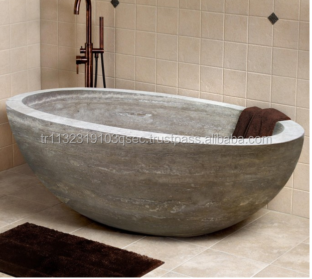 Travertine bathtub hight quality marble bathtub