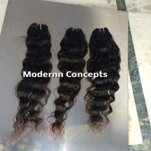 Wholesale single donor virgin remy raw indian temple human hair 100% hair extension with closure piece