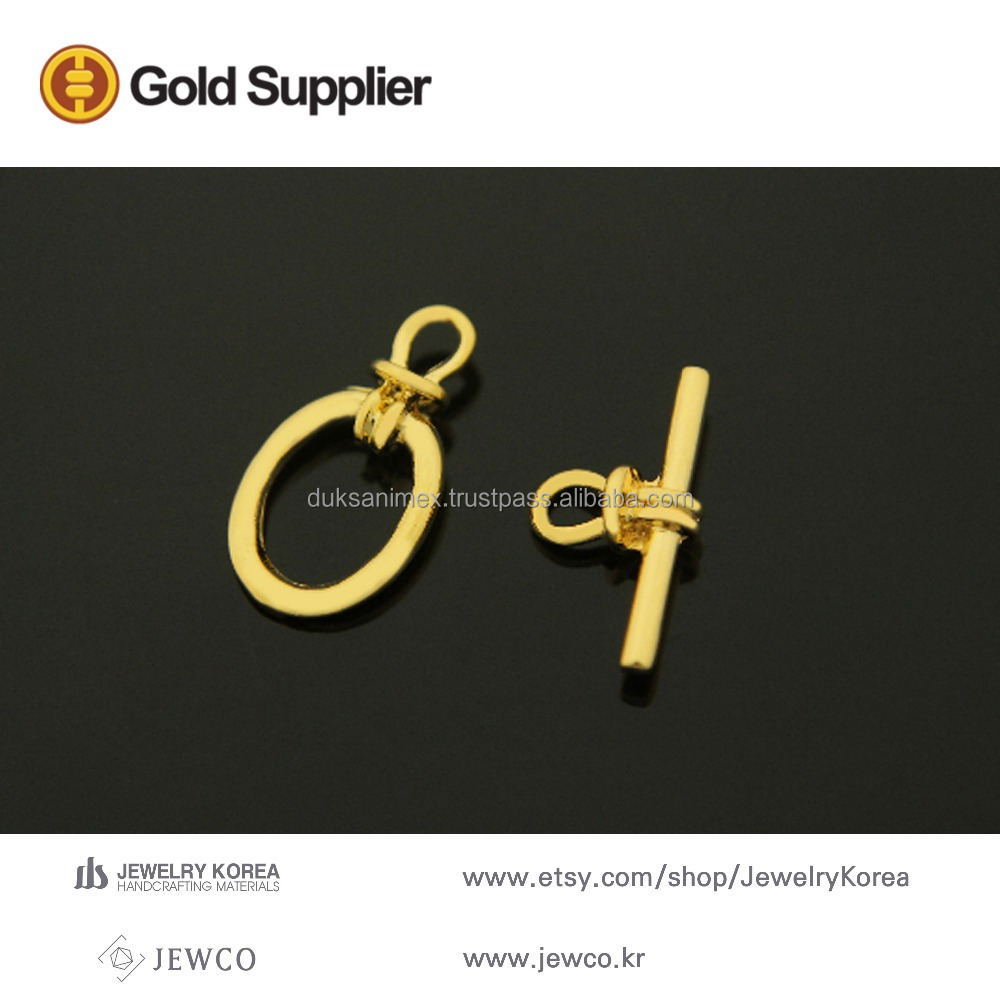 Gold Jewelry Gold plated decorative toggle clasp jewelry accessory jewelry findings, S56-G2