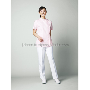 Corporate uniforms stock / Nursing wear made with T/C fabric. Made by Japan