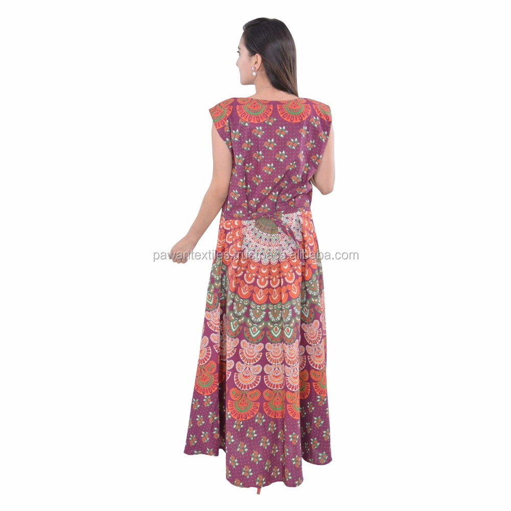 indian hot products wholesale Indian abaya and kaftan mandala dress