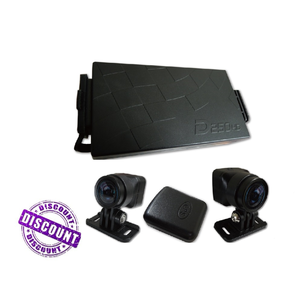 2 Channels <strong>DVR</strong> 1280x720 Resolution Hard Wire Dash Camera for Motorcycle
