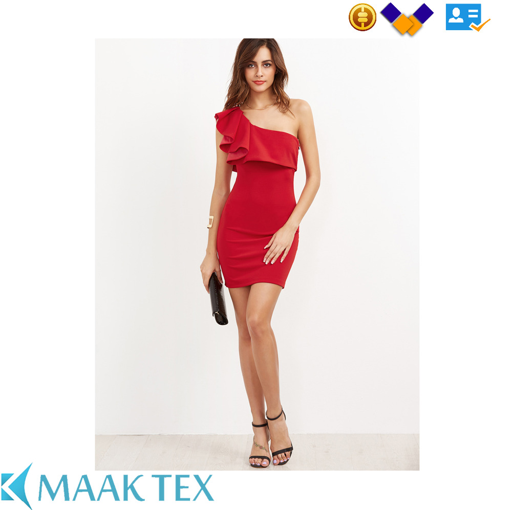 Most popular best design OEM service anti pilling plain dyed party dress for women
