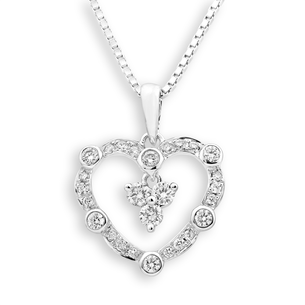 Valuable 0.312CT 18K white gold Diamond wedding pendants for her types of engagement pendants settings only
