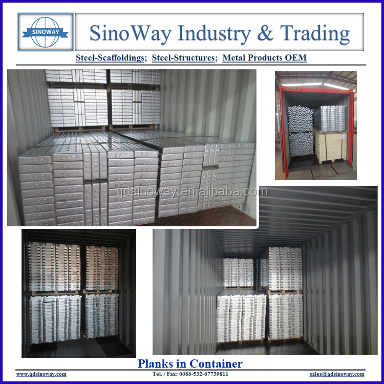 Planks in Container