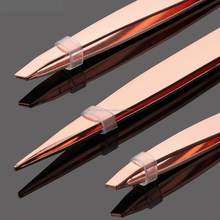 Light weight Rose Gold plasma Eyebrow Tweezers made by Platenium International