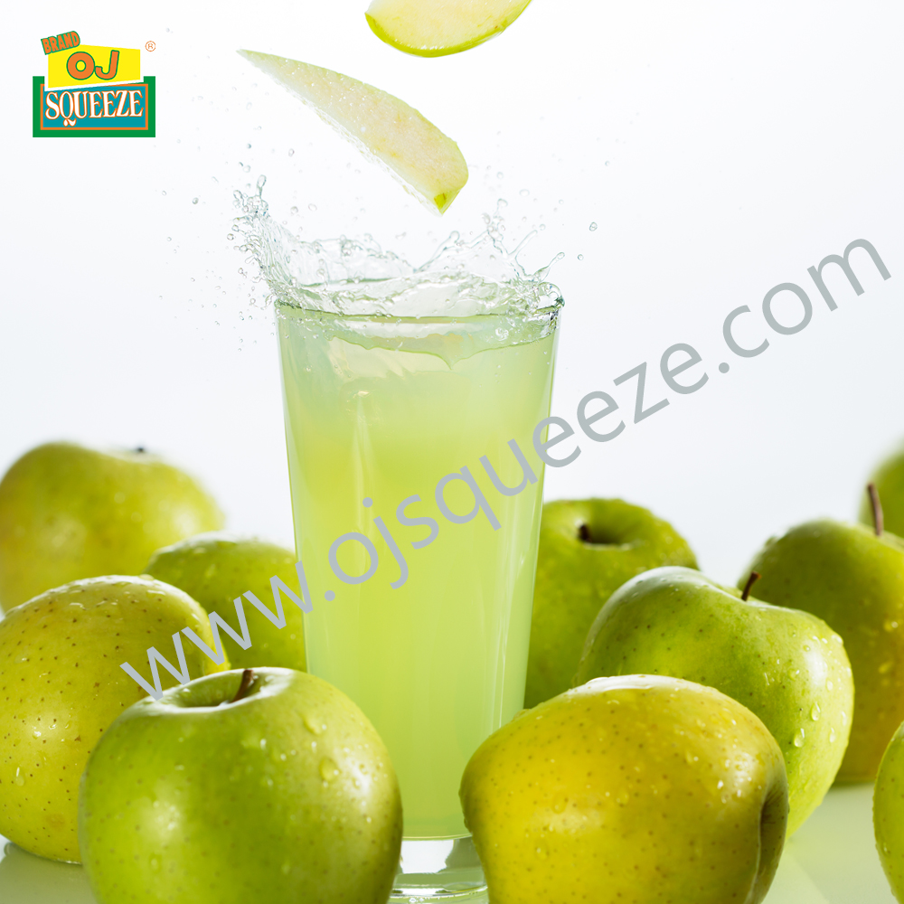 Instance Green Apple Juice Beverage Powder Brand OJ Squeeze 500 gm Per Pack, 24 Foil in 1 Carton.