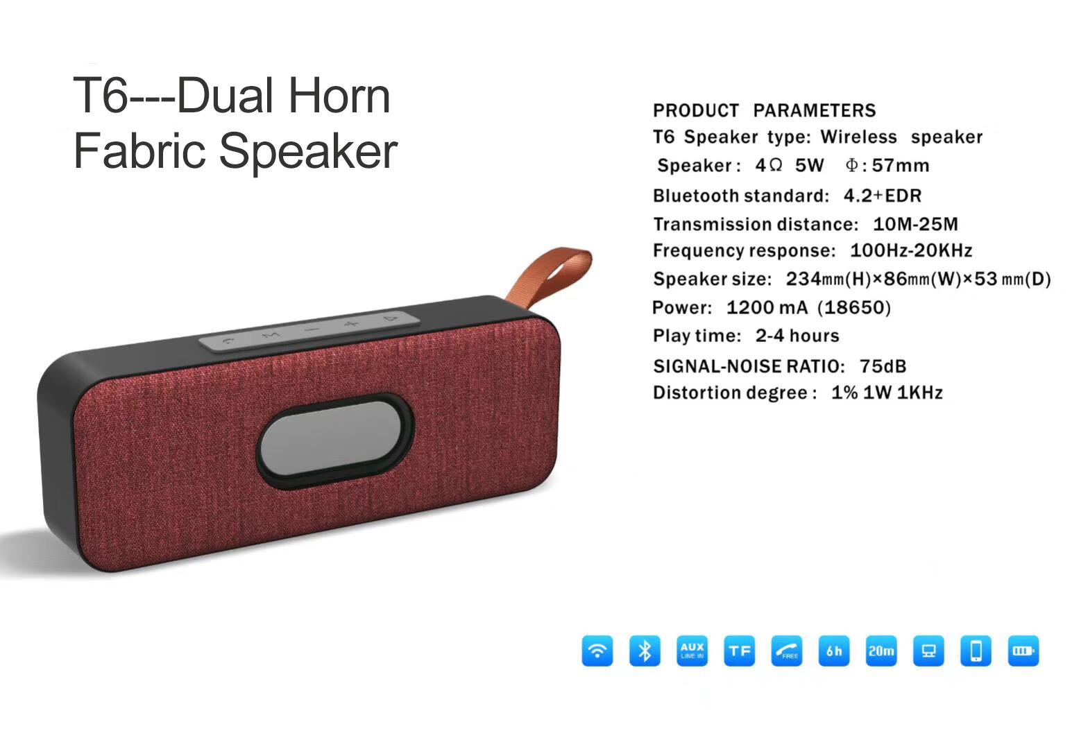 SOOMES cheap fabric mini speaker bluetooth