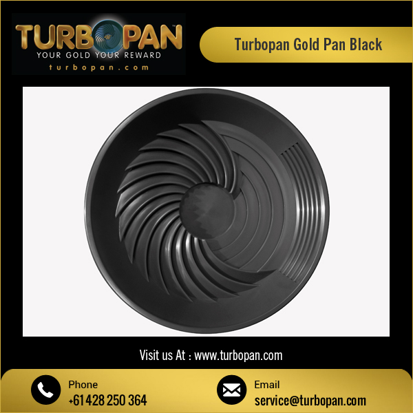Black Color Gold Panning Turbo Pan for River Sand Washing