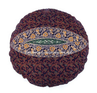 indian modern household indoor outdoor round cotton flore pouf ottoman