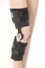 CE approved adjustable orthopedic knee brace / medical post-op knee stabilizer / hinged ROM knee