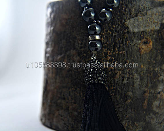 Black 33 Beads Clay Tasbeeh