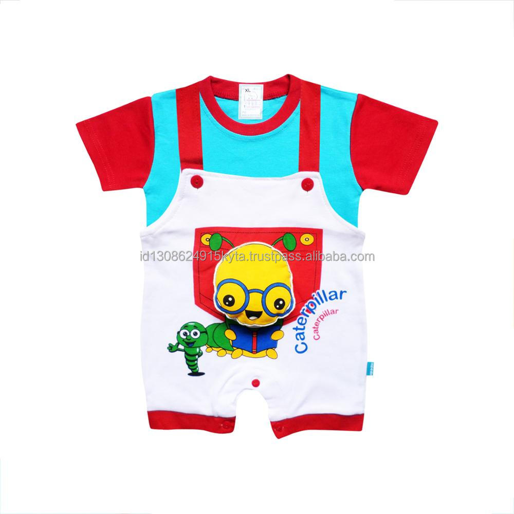 Wholesale Baby Clothes Set Baby Romper Short Sleeve 3D Caterpillar Design For Baby Boys 1604