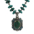 Emphatical turquoise gemstone necklace 925 sterling silver jewelry indian silver jewellery wholesaler