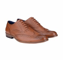 BXXY TAN COLOR GENUINE LEATHER BROGUE STYLE SHOES IN HANDMADE SOLE SIZES 40-48