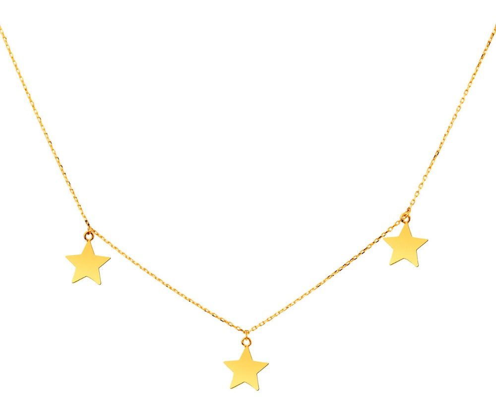 Fashion Style Star Necklace Design 18k Gold