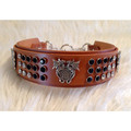 Designer Leather Dog and Cat Collar