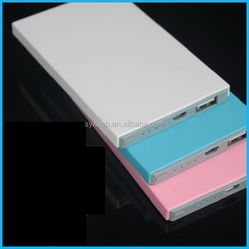 Hot Selling Business Gift White 4000mAh ABS Smart Power Bank