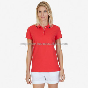 Ladies Polo T Shirts - 2018 New Design Wholesale top quality fashionable red color ladies polo t shirts