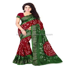 Latest Bollywood Model Indian Traditional Designer Print Bandhej Worked Bandhani Sarees In Surat
