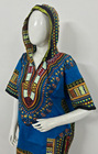 Unisexe Traditionnelle Africaine Dashiki À Capuche Dashiki Robe