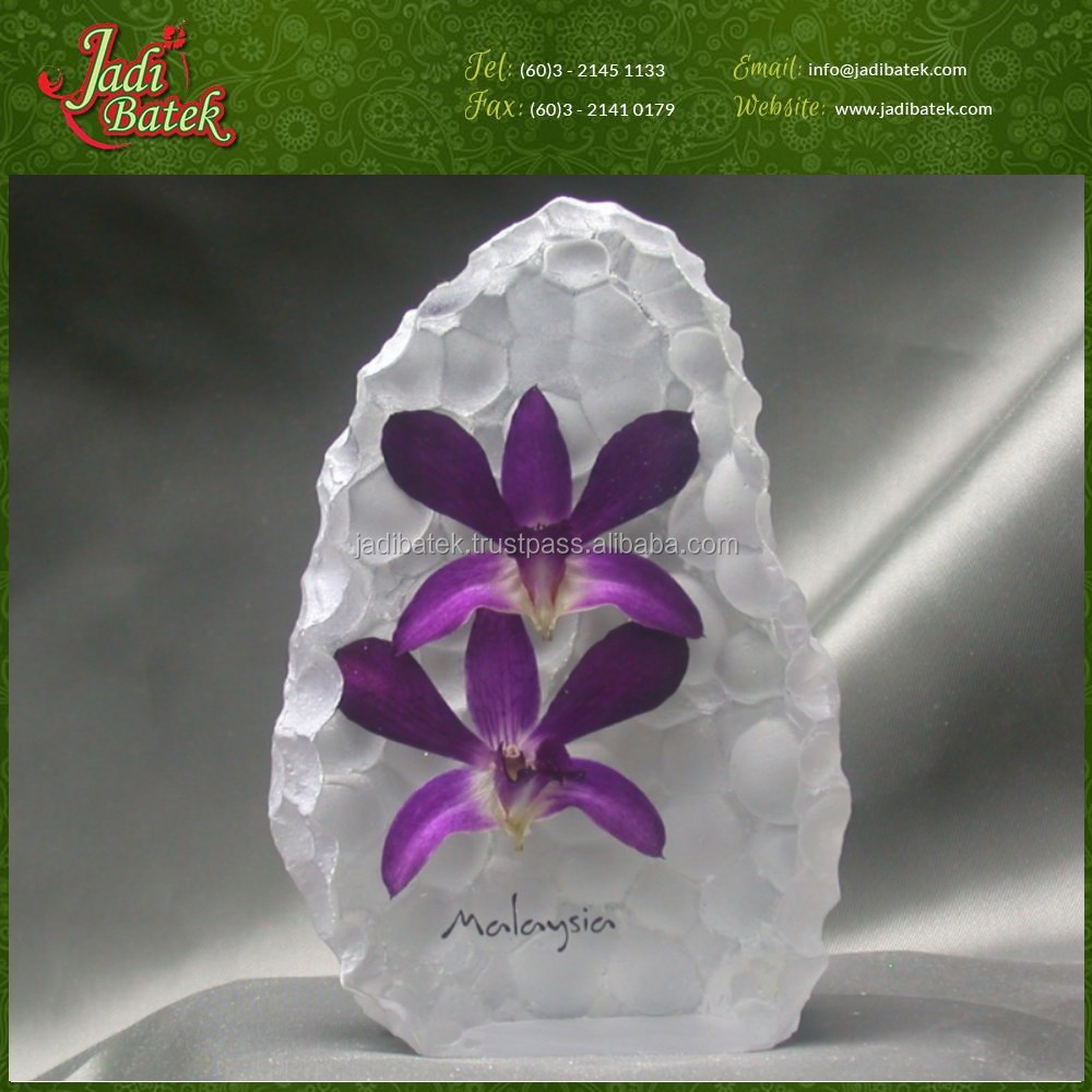 [Jadi Batek] High Quality Exotic Orchid Flower Cristal Souvenir Items gift Malaysia batik and handicrafts