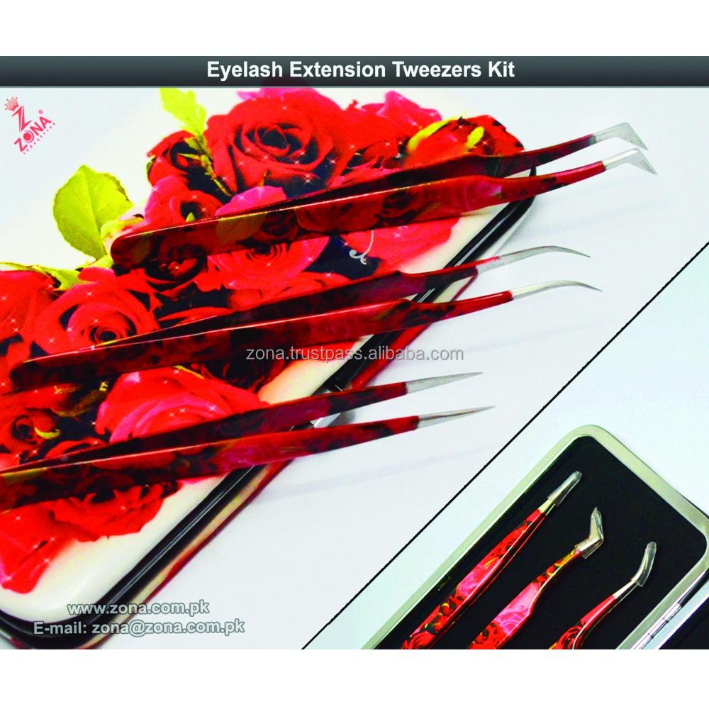 Eyelash Extension Tweezers Kit / Flowers Matching Tweezers Kits Set From Zona Pakistan