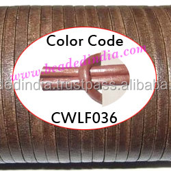 Leather Cords 2.5mm flat, metallic color - faded pink. Weight: 550 grams. CWLF25036