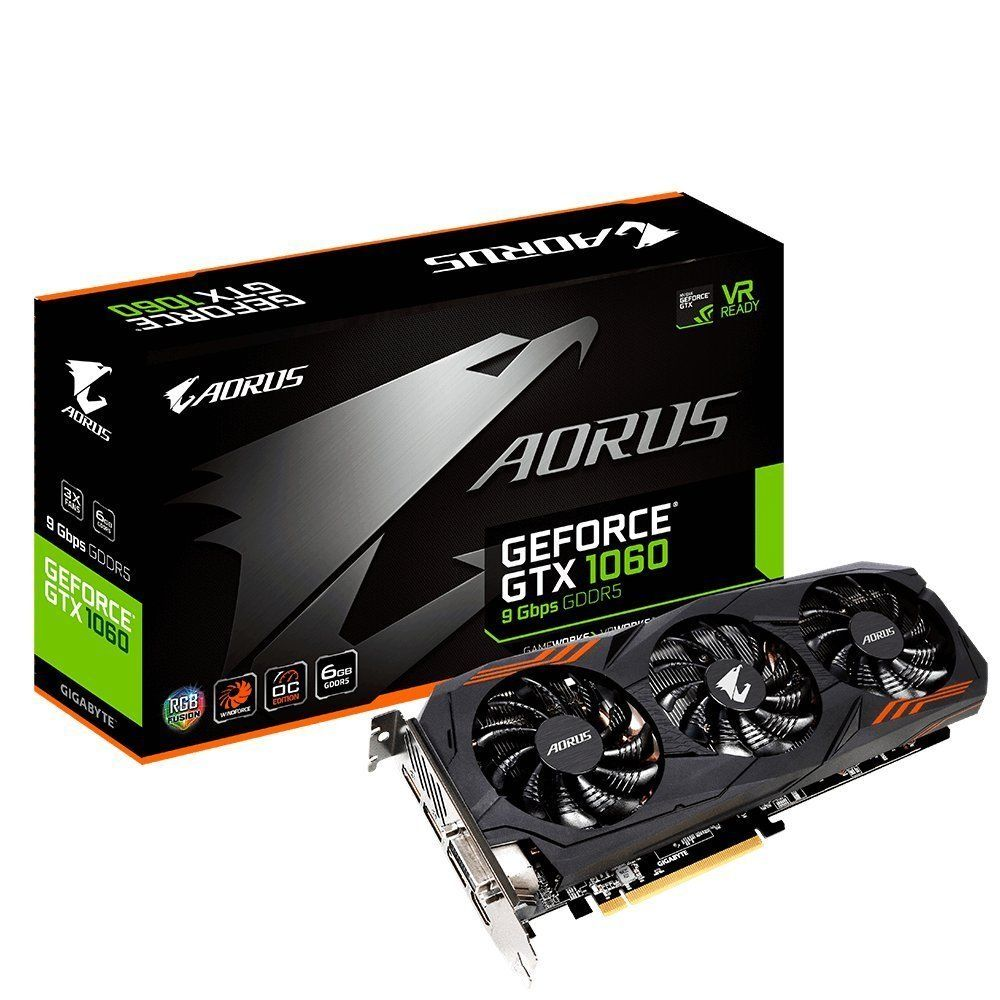 Best deal on Gigabyte AORUS GeForce GTX 1060 6G 6GB Graphics Cards GV-N1060AORUS-6GD