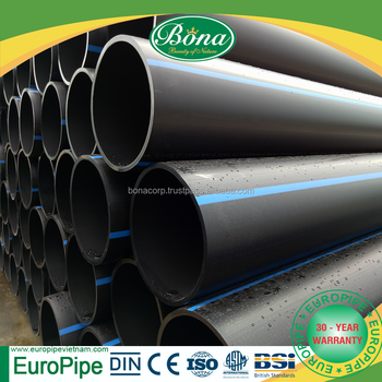 HDPE Water Supply Pipe/Tube SDR 17 PN10, Water Supply and Drainage Pipe, european quality