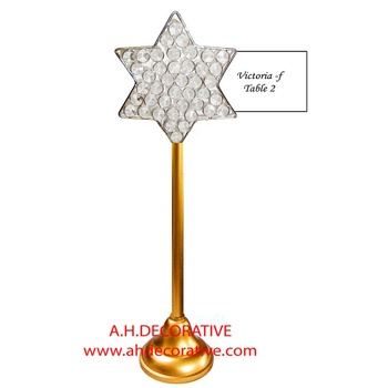 Guest Table Name Card Holder Star Shape