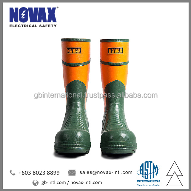 Electrical Safety Shoes Rubber Dielectric Boots NOVAX brand from Malaysia