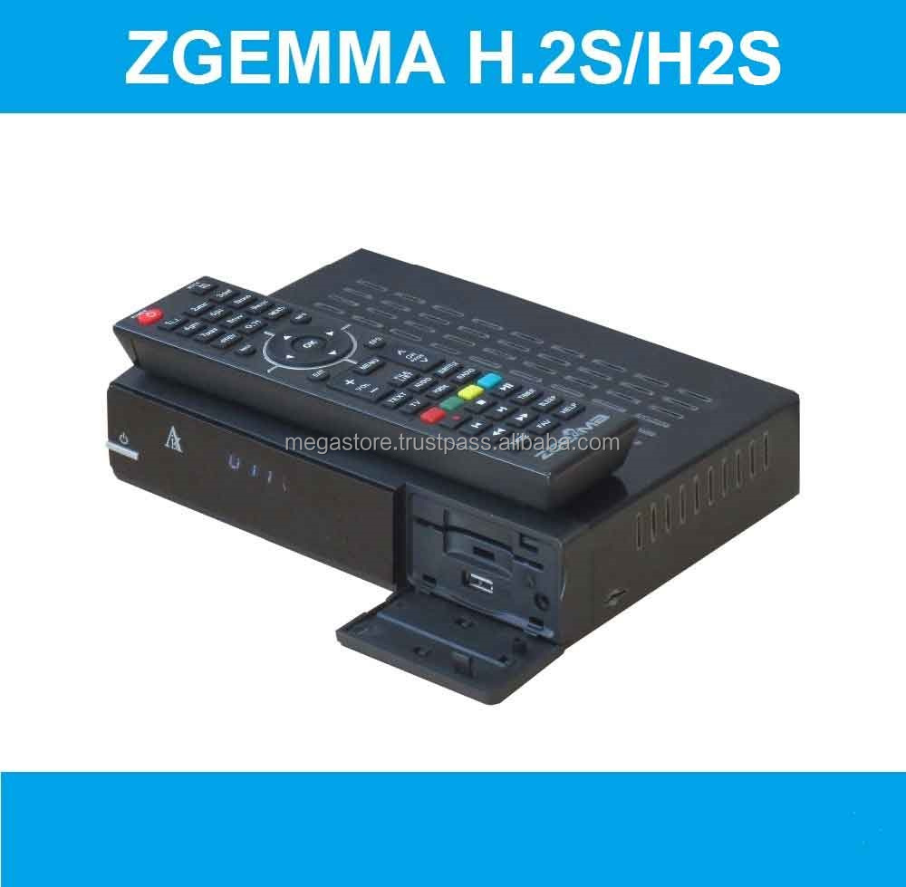 DVB-S2+S2 Twin Sat Tuners Zgemma H.2S FTA Satellite Receiver Full HD 1080P High CPU Dual Core Linux OS Enigma2 Cable Box.