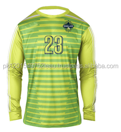 Lemon Color Goal Keeper Jersey 2017