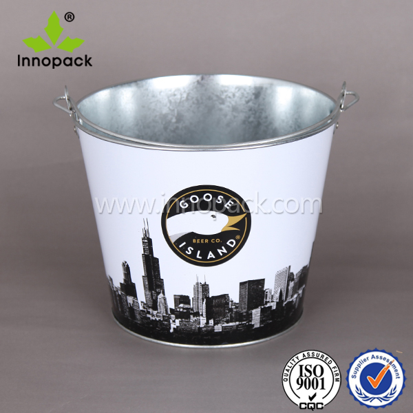 5 QT printed ice cooler cheap ice bucket tin bucket beer cooler boat