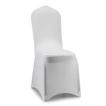 Luxury Event Banquet Hall Decoration Use White Lycra Chair Cover