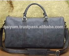 large capacity leather travel duffel bag vintage weekend shoulder bag leather holdall luggage bag for men
