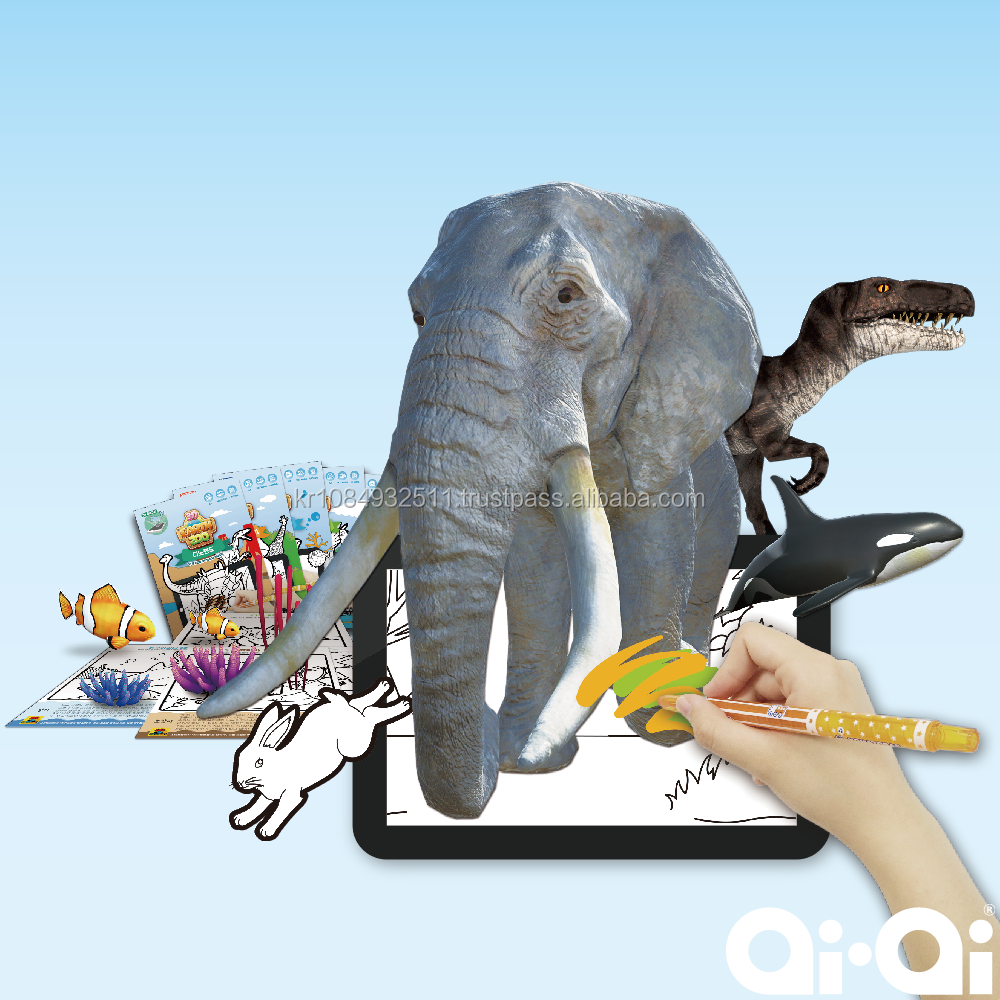 Best Quality AR 3D Coloring Sketch Earth ZOO Drawing Board