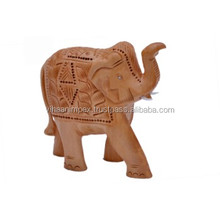 Wholesale wooden carving elephant decorative for home and office decor gift item