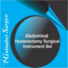 Abdominal hysterectomy surgical instruments set