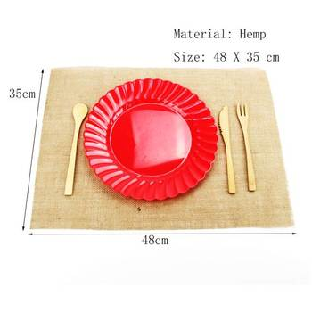 Burlap Placemat With Flat Surged And Square Edges