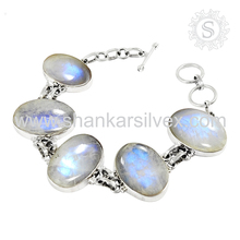 Antique jewelry bracelet rainbow moonstone jewelry 925 sterling silver bracelet online silver jewellery supplier