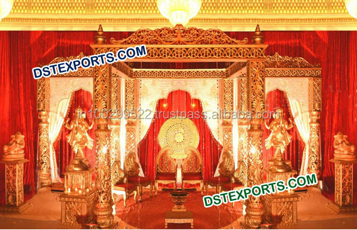 Indian Fiber Mandap Wedding Decoration