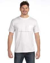 Online Shopping Cotton White O Neck Pocket Men Short Sleeve T Shirt