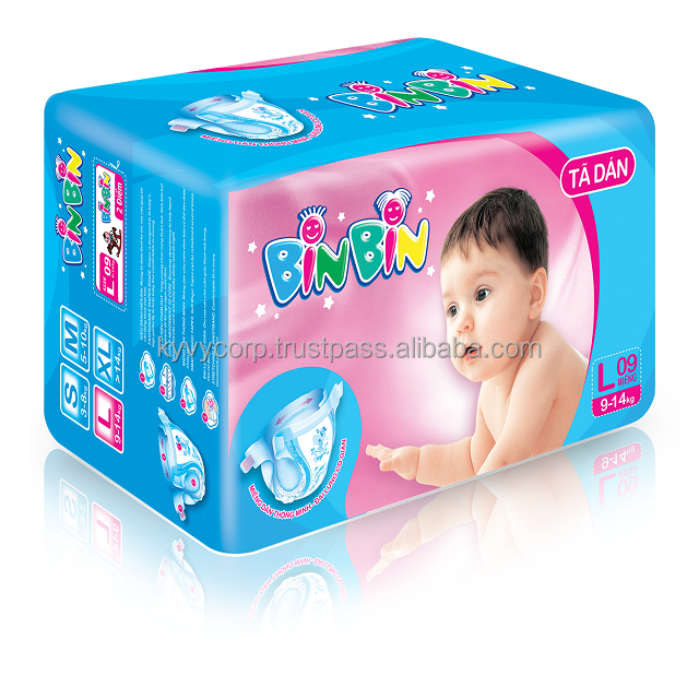 High quality Bin Bin baby diaper from KY VY Corporation
