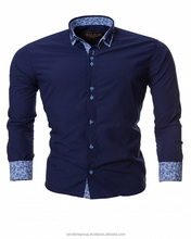 OEM And ODM Manfacturers Service European Style Full Sleeve Turkey Cotton Yarn Dyed Men Dress Shirt