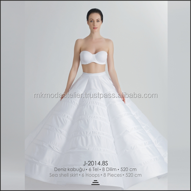 High Quality Fluffy Sea Shell Petticoat For Wedding Dresses Wholesale / Hotsale / Underskirt