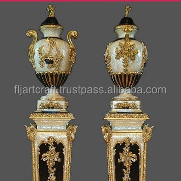 Home Decorative Mother of Pearl Pedestal and Vases for Sale