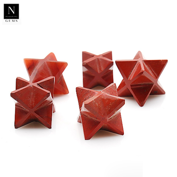 Merkaba star reiki healing crystals aura cleansing chakra metaphysical red jasper gemstones