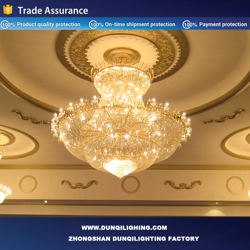 2017 Christmas light /6lights/8 lights/12 lights large big glass crystal chandelier for lobby hotel